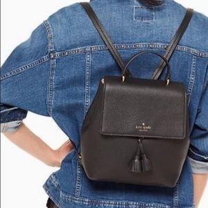 Kate spade Hayes medium backpack black new tag